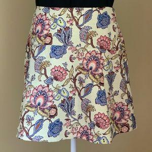 Ann Taylor Loft Floral A Line Lined Skirt Size 8P
